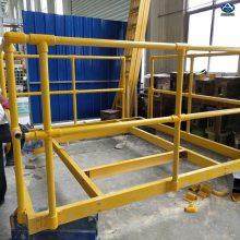 专业制作玻璃钢围栏 玻璃钢防护栏配件 弯头底座 三通等 厂家大量现货供应 河北华强