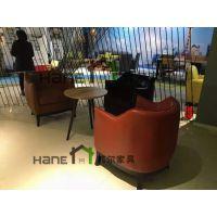 工厂直销高端商场接待沙发桌椅 简约现代沙发桌椅定制 上海韩尔家具供应