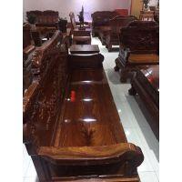 新品孔雀宝座古典沙发6件套实木名琢世家