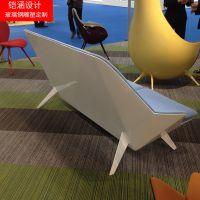 【铠涵工艺品】商场美陈玻璃钢沙发-玻璃钢创意沙发-商场造型坐椅