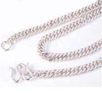 990足银男士精品男士项链 经典老品牌侧身银链 支持一件代发货