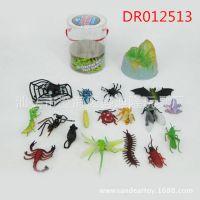 3寸昆虫桶装 卡通仿真昆虫小玩具套装 儿童科教益智玩具批发