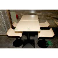 西式快餐店桌椅饭堂餐桌椅 商场mall中心餐厅桌椅 简约现代餐厅家具组合运达来直销