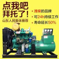 供应赣州 潍柴发电机柴油 30KW 50KW 100千瓦三相静音发电机组汽油全铜双缸