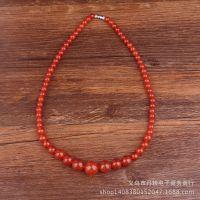 中国风串珠玉项链 经典雕刻工艺 男女通用传统古典项链
