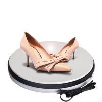 鞋子展示道具 360度电动旋转 专卖店设计陈列 动态旋转电动转盘