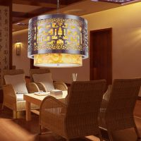 现代中式明清古典木艺羊皮灯吊灯餐厅客厅酒店茶楼灯饰灯具8030
