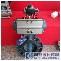 气动塑料蝶阀D671X/气动塑料蝶阀UPVC/气动对夹式塑料蝶阀