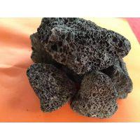 河北博淼厂家供应园林造景大块黑色火山石