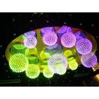 LED光纤灯  KTV七彩装饰灯光纤照明  光纤吊灯  夜场氛围水晶灯