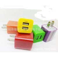 2A 双USB充电器 苹果快充插头 5S/4S三星HTC小米华为通用充电器