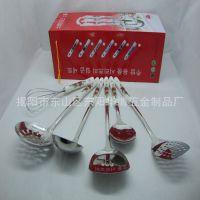 供应陶瓷厨具 红色韩文彩盒礼品厨具七件套