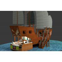 餐饮木船设计,售卖景观船价格,「振兴景观」零售大型木船样板图