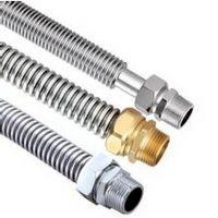 不锈钢304中央空调波纹管 风机盘管 金属软管 钢铁镀铬(黄铜)接头批发