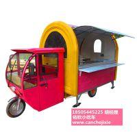 小吃车房车手推流动移动电动四轮仿古餐车多功能美食小吃车