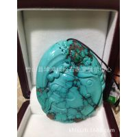 【供应】天然绿松石 雕件 独占鳌头 幸运之石 品质保障
