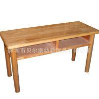 双人桌、抽屉桌、双人木桌、儿童双人桌、学生实木桌、幼儿园设备
