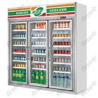 三门立式冷藏柜 雅绅宝冷藏展示柜 便利店饮料柜价格 三开门冰柜