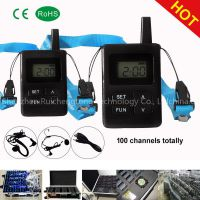 UHF800-823MHZ 470-510MHZ Wireless Tour Guide System Simultaneous Interpretation System