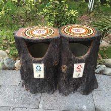 四川驰升批量供应道路仿木花箱隔离带 水泥仿树皮栏杆/垃圾桶/桌椅凳