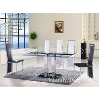 批发 简约五金家具餐台椅、12厘钢化餐桌 优惠促销