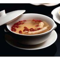 陶瓷餐具 特价 碗带双耳 汤碗 面碗 新骨瓷 饭碗 日式 白色 瓷器