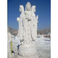 1米汉白玉的观音像,1.5米汉白玉观音雕塑,2米的汉白玉观音雕塑