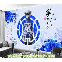 河北张家口瓷砖背景墙制作设备 彩雕瓷砖背景墙UV平板打印机