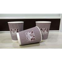 武汉瓦楞纸杯 400ml双层瓦楞杯价格 瓦楞咖啡杯定做 双层瓦楞防烫纸杯