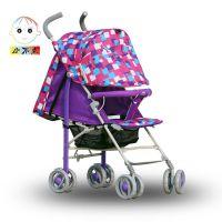婴儿车儿童推车四轮推车铝合金爆款可坐可躺避震手推车轻便折叠