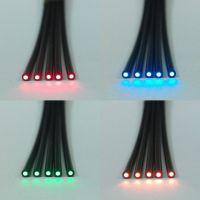 白色透明导光材料,光纤灯饰材料,尾部发光导光透明棒