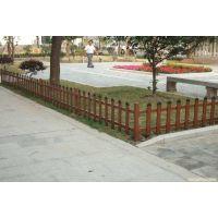 南京木纹色草坪护栏 塑钢花坛 仿古护栏 仿木篱笆园林小区别墅用