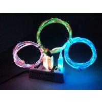 供应厂家三星V8园双色发光线批发厂家三星V8园双色发光线
