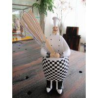 欧式厨师刀叉架餐具架 餐厅装饰吧台装饰家居装饰摆件厨房收纳
