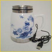 2013新款热销youmic迪士尼陶瓷杯 USB插电陶瓷杯 不锈钢陶瓷杯