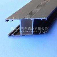 厂家直销 工业铝型材 楼梯扶手 栏杆 木纹转印 喷涂 晶泳 6063
