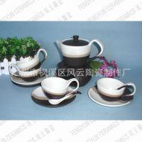 厂家直销飘逸杯碟组,日用陶瓷茶具咖啡具,下午茶花茶壶陶瓷