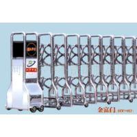 批发电动伸缩门、全不锈钢自动门、铝合金遥控伸缩门、小区大门