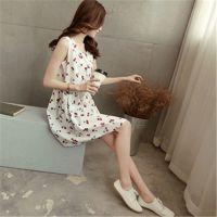 2015韩版夏季新款孕妇装无袖上衣纯棉无袖孕妇连衣裙中长款背心裙