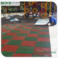 新会小区活动场专用地垫 防滑地垫铺设图 柏克橡胶地板生产厂家