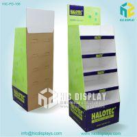 恒创设计生产大功率led灯纸展架展会促销超市纸板展示架