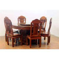 名琢世家刺猬紫檀古典中式如意圆餐桌价格