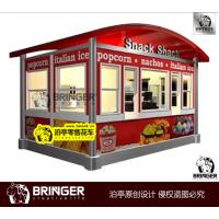 零食铺零售小屋设计制作 snack shack奶茶汉堡热狗冰激凌售货亭