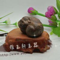 越南天然沉香木雕工艺品 幸福小猪手把件 木雕木制工艺品