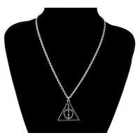 哈利波特项链 卢娜死亡圣器三角坠链 欧美外贸原单