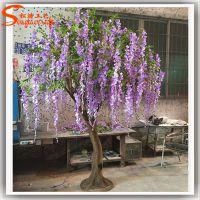 仿真树紫藤花树假树落地装饰大型 仿真紫藤花串厂家直销 可定制