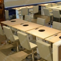 促销 日式板材火锅桌子 分餐火锅桌餐厅桌子 小户型火锅桌子批发定做