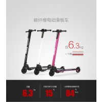 自主品牌 碳纤维折叠电动滑板车 成人电动车折叠自行车代驾 代步车