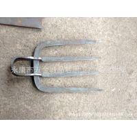 老式手工锻打螺纹钢四齿耙 钉耙子搂草耙扁耙 农用工具