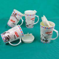 厂家热销 马克杯订做 V杯卡通交通工具 创意陶瓷 带盖 日韩流行